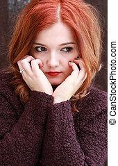 Pretty red headed girl
