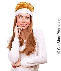 Pretty Santa woman