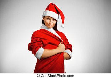 Pretty Santa's helper