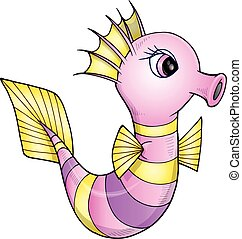 Pretty Sea Horse Vector art