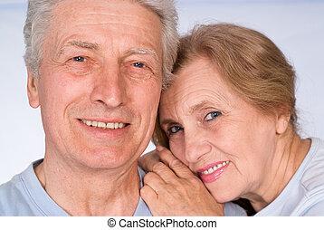 pretty senior couple