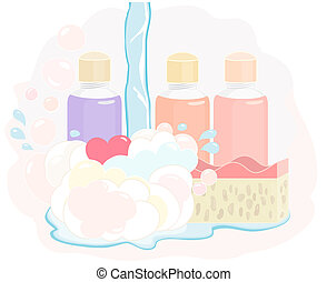 Pretty shower gel set