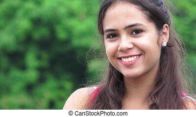 Pretty Smiling Female Teen Girl