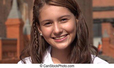 Pretty Smiling Teen Girl