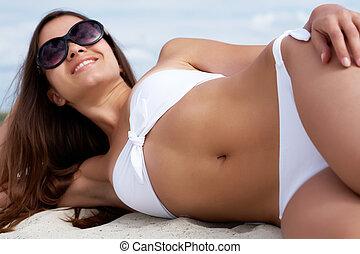 Pretty sunbather