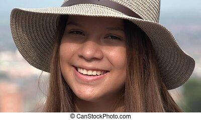 Pretty Teen Girl Smiling