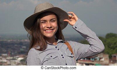 Pretty Teen Happy Girl
