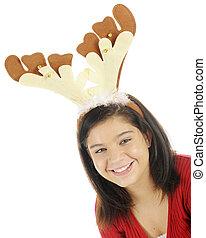 Pretty Teen Reindeer