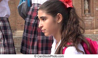 Pretty Teen School Girl