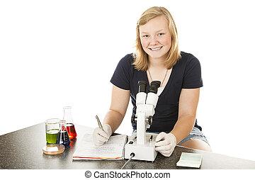 Pretty Teen Scientist