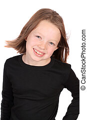 Pretty Ten year old girl - Confident smiling ten year old...