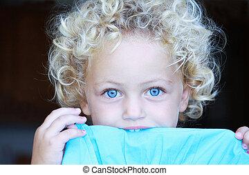 pretty toddler portrait