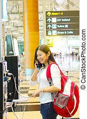 phone call at airport