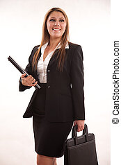 Pretty twenties latin american businesswoman