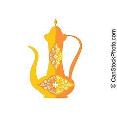 Pretty Vase with Decorative Pattern Color Template