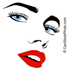 Pretty vector woman face