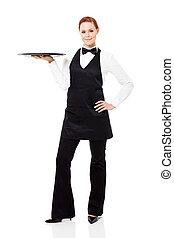 pretty waitress full length