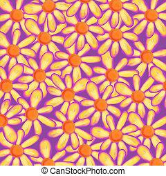 Pretty Watercolor Daisy Flower Background