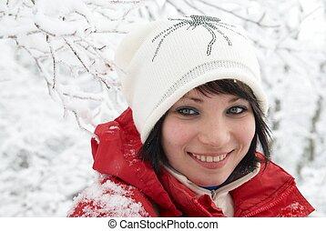 Pretty winter girl