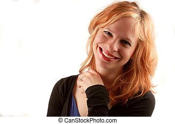 pretty woman - beautiful smiling woman