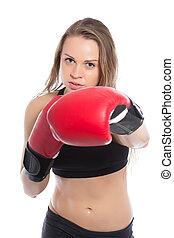 Pretty woman boxing