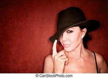 Pretty woman in a hat