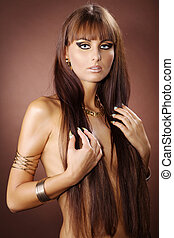pretty woman in Cleopatra style