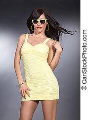 pretty woman in fashion pose