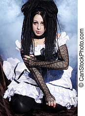 pretty woman in gothic style