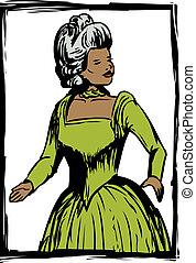 Pretty Woman in Green Dress