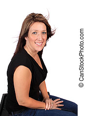 Pretty woman in mid thirties - Attractive confident woman in...
