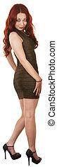 Pretty Woman in Short Dress