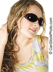 Pretty woman in sunglasses