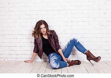 Pretty woman model with amazing body