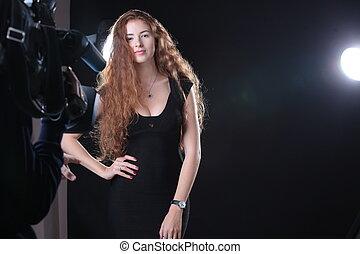 Pretty woman modeling