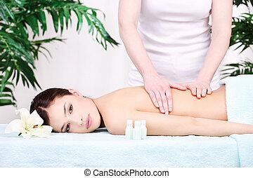 woman on back massage