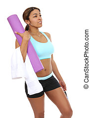 Pretty Woman Ready to Exercise