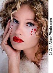 pretty woman with beautiful make up