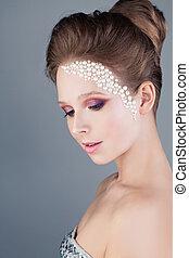 Pretty Woman with Fashion Makeup