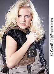 pretty woman with handbag