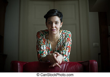 Woman with Short Hair