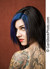 Pretty Woman with tattoos