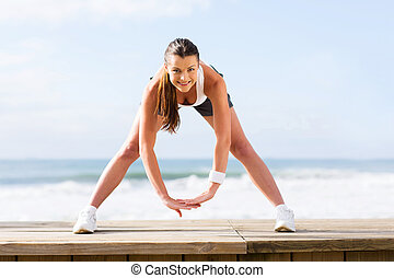pretty woman working out