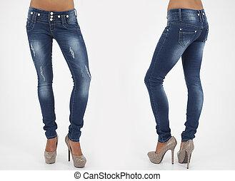 pretty women in tight jeans