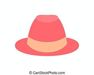 Pretty Womens Hat Isolated Vector Illustration - Pretty...