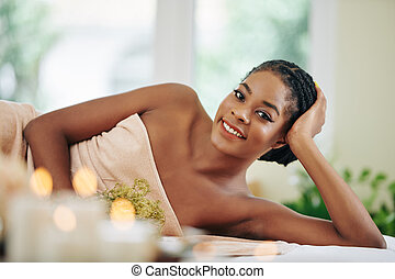 Pretty young African-American woman