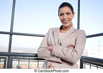 Pretty Young Businesswoman Smiling