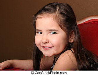 Pretty Young Female Child Smiling