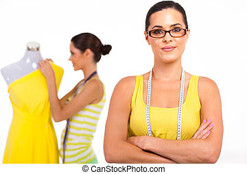 pretty young female dressmaker