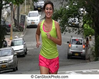 Pretty Young Female Jogger